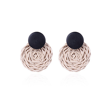 povoljno Modne naušnice-Žene Viseće naušnice pletena dame Vintage Korejski Naušnice Jewelry Crn Za Ulica 1 par