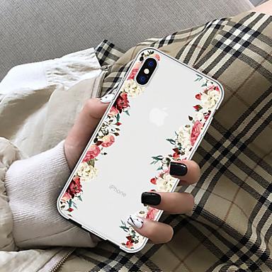 preiswerte Bis zu 0,99 $-Hülle Für Apple iPhone X / iPhone 8 Plus / iPhone 8 Transparent Rückseite Blume Weich TPU