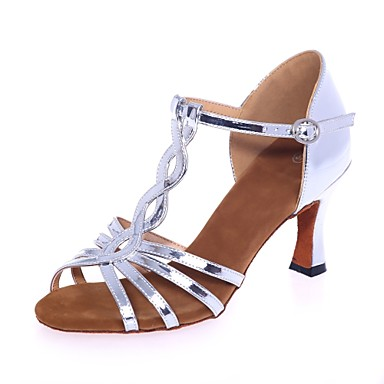 Női Latin cipők Lakkbőr Szandál Csat Kúpsarok Dance Shoes Arany   Ezüst  6988183 2018 –  39.99 5cca64bd84