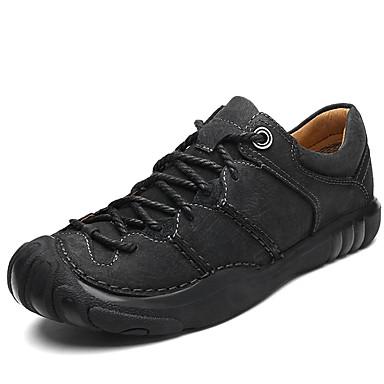 Férfi Formális cipők Nappa Leather Tavasz / Ősz & tél Alkalmi / Brit Félcipők Csúszásmentes Fekete / Kávé / Khakizöld / Ruha cipő