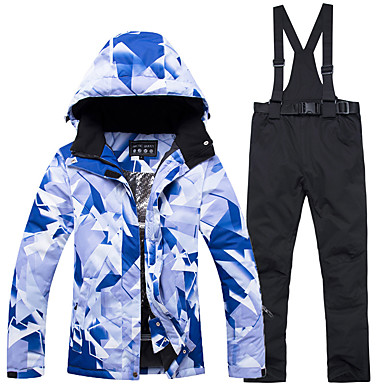 ARCTIC QUEEN Women s Ski Jacket with Pants Windproof Warm Detachable Cap Skiing  Snowboarding Winter Sports POLY Eco-friendly Polyester Pants   Trousers ... aa8c82f6f