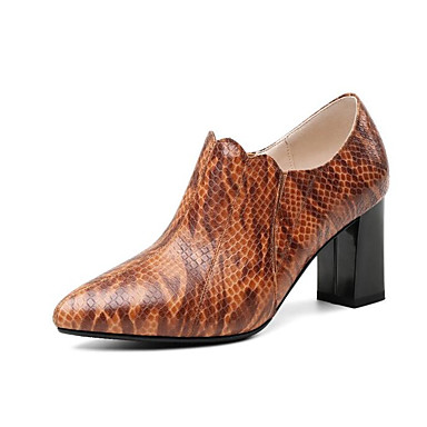247162e4998 Women s Pumps Nappa Leather Fall Heels Chunky Heel Brown   Dark Brown    Daily 6955248 2019 –  59.99