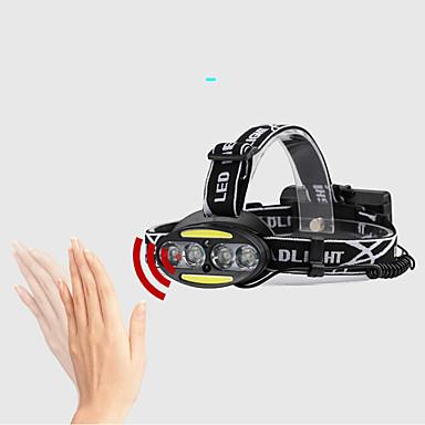 2504-B Svjetiljke za glavu Svjetlo za bicikle Vodootporno 800 lm LED LED emiteri 5 rasvjeta mode Vodootporno Prilagodljiv Izdržljivost Kampiranje / planinarenje / Speleologija Lov Crn