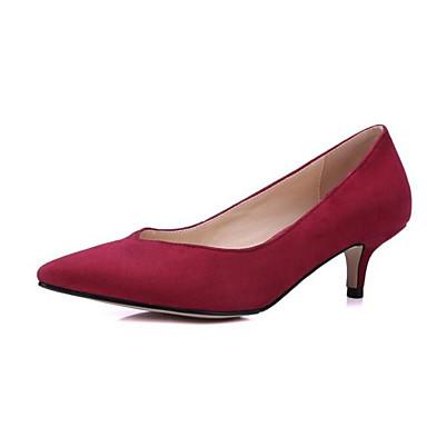 5bae8009b0 Mulheres Sapatos Confortáveis Microfibra Verão Saltos Salto Baixo Preto    Roxo   Vermelho   Diário de 6978535 2019 por  22.99
