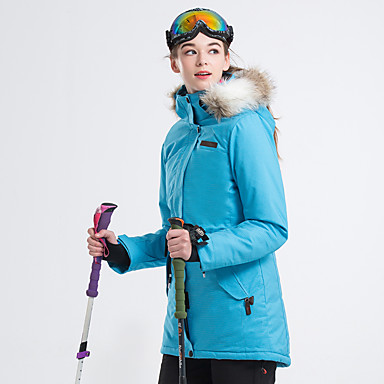 LanLaKa Žene Skijaška jakna Vodootporno Ugrijati Vjetronepropusnost Skijanje Snowboarding Zimski sportovi POLY Zimska jakna Skijaška odjeća / Zima