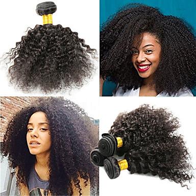 povoljno Ekstenzije od ljudske kose-3 paketa Indijska kosa Afro Kinky Kinky Curly Remy kosa Ekstenzije od ljudske kose 8-26 inch Natural Isprepliće ljudske kose Najbolja kvaliteta Novi Dolazak Rasprodaja Proširenja ljudske kose / 10A