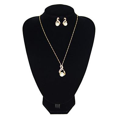 Žene Bijela Viseće naušnice Choker oglice Jedna vrpca Jednostavan Vintage Naušnice Jewelry Zlato / Pink Za Dnevno Festival 1set