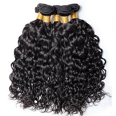 povoljno Ekstenzije od ljudske kose-6 Paketi s zatvaranjem Brazilska kosa Water Wave Virgin kosa Ljudske kose plete Bundle kose Jedan Pack Solution 8-28inch Prirodna boja Isprepliće ljudske kose Sladak Modni dizajn Dar Proširenja