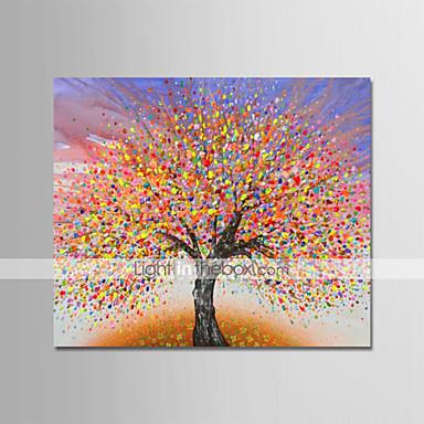 povoljno Ukrašavanje zidova-Hang oslikana uljanim bojama Ručno oslikana - Sažetak Cvjetni / Botanički Moderna Uključi Unutarnji okvir / Prošireni platno