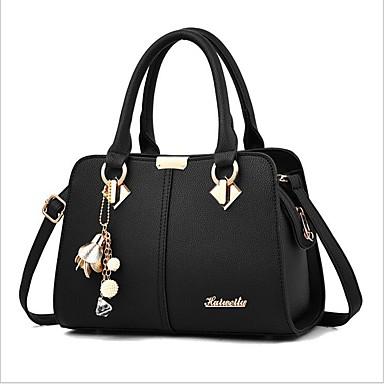 cheap Handbag & Totes-Women's Bags PU Leather Shoulder Messenger Bag Zipper for Daily Wine / Black / Royal Blue / Beige / Gray