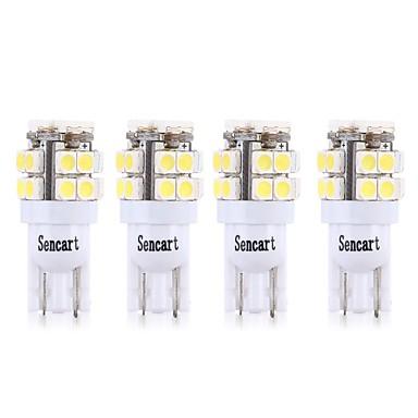 billige Billamper-SENCART 4stk T10 / BA9S Motorsykkel / Bil Elpærer 3 W SMD 2835 160 lm 20 LED Blinklys / Motorsykkel / interiør Lights Til