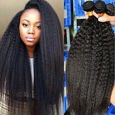povoljno Ekstenzije za kosu-3 paketa Brazilska kosa Yaki Ljudska kosa Ljudske kose plete Bundle kose Jedan Pack Solution 8-28 inch Prirodna boja Isprepliće ljudske kose Sexy Lady Najbolja kvaliteta Rasprodaja Proširenja ljudske