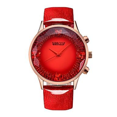 levne Pánské-BAOGELA Dámské Náramkové hodinky Square Watch japonština Japonské Quartz Pravá kůže Modrá / Červená 30 m Voděodolné kreativita Hodinky na běžné nošení Analogové Na běžné nošení Módní - Červená Modrá