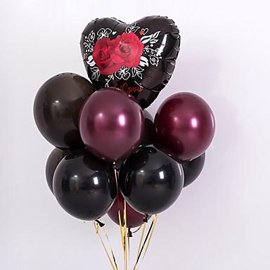 voordelige Feestbenodigdheden-Ballonbundel Latex 10 stuks Bruiloft