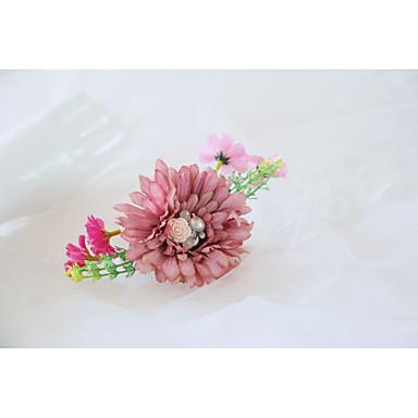 Cvijeće za vjenčanje Wrist Corsage Vjenčanje / Svadba Perle / Platno 0-10 cm