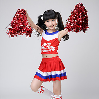 b6044ab3e Cheerleader Costumes Outfits Girls' Performance Spandex Split Joint  Sleeveless Dropped Skirts / Top 6981729 2019 – $34.99