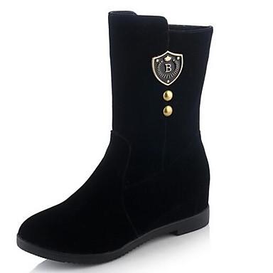 4f4632e14f5 Mujer Fashion Boots Ante Invierno Botas Tacón Bajo Punta cerrada Botines    Hasta el Tobillo Negro   Rojo 6975707 2019 –  34.99