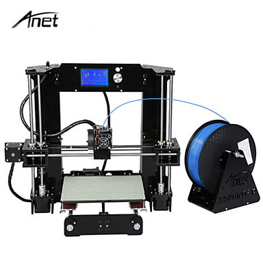 cheap Weekly Deals-Anet A6 High Precision Big Size Desktop 3D Printer Kits Reprap i3 DIY Self Assembly LCD Screen with  SD Card