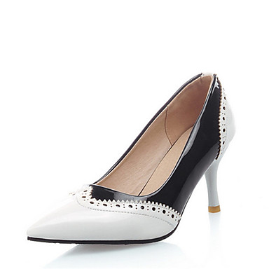 acd322f1c15 Women s Pumps PU(Polyurethane) Spring   Fall Heels Stiletto Heel Pointed  Toe Stitching Lace White   Black   Red   Party   Evening   Color Block  6972565 2019 ...