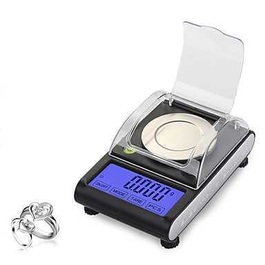 voordelige Test-, meet- & inspectieapparatuur-cx501 50g 0.001g digitale elektronische schaal 0.001g precisie touch lcd digitale sieraden diamant schaal laboratorium tellen gewicht balans