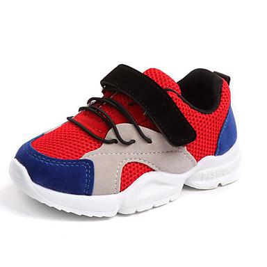 levne Dětské botičky-Chlapecké / Dívčí Pohodlné / Svítící boty Síťka Atletické boty Batole (9m-4ys) / Malé děti (4-7ys) Kouzelná páska Bílá / Červená / Růžová Podzim zima