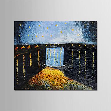 povoljno Ulja na platnu-Hang oslikana uljanim bojama Ručno oslikana - Poznat Pejzaž Moderna Uključi Unutarnji okvir / Prošireni platno