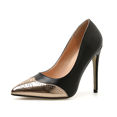 911b679a2e6 Women s Pumps PU(Polyurethane) Spring   Fall Classic Heels Stiletto Heel  Pointed Toe Black   Red   Color Block   Daily 6987262 2019 –  29.99