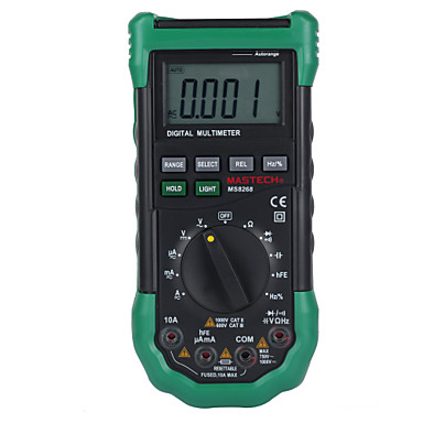 cheap Test, Measure & Inspection Equipment-Mastech MS8268 Auto Range Digital Multimeter Full protection ac/dc ammeter voltmeter ohm Frequency electrical tester diode test