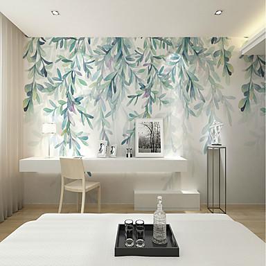 tapeta / Mural Platno Zidnih obloga - Ljepila potrebna Cvjetni print / Copaci / Frunze / 3D