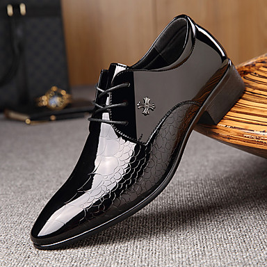 cheap Men's Oxfords-Men's Formal Shoes Leather Spring & Summer Business / British Oxfords Wear Proof Black / Party & Evening / Party & Evening / Dress Shoes