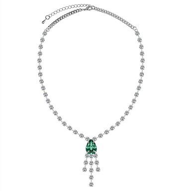 Women s Tennis Chain Pendant Necklace - Rhinestone Drop Ladies ... 5efe7e512
