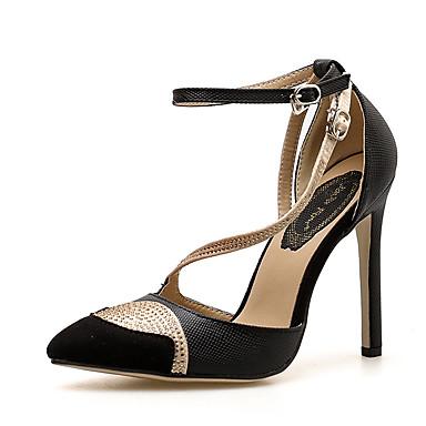 5abcc423019 Women s Pumps PU(Polyurethane) Spring   Fall Minimalism Heels Stiletto Heel  Pointed Toe Rhinestone White   Black   Color Block   Daily 6987256 2019 –   29.99