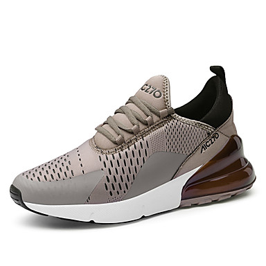 Men's Comfort Shoes Cowhide Winter Casual Sneakers Non-slipping Black / White / Khaki / Black / Outdoor