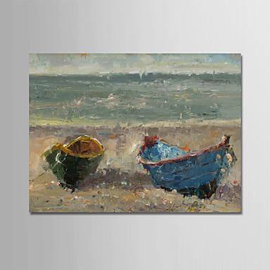 povoljno Ulja na platnu-Hang oslikana uljanim bojama Ručno oslikana - Pejzaž Moderna Bez unutrašnje Frame / Valjani platno