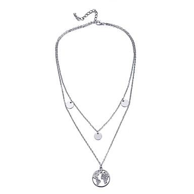 povoljno Modne ogrlice-Žene slojeviti Ogrlice Više slojeva dame Etnikai Moda Legura Pink 41+5 cm Ogrlice Jewelry 1pc Za Dnevno Festival