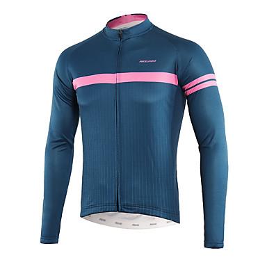 Arsuxeo Men s Long Sleeve Cycling Jersey - Royal Blue Bike Top Back Pocket  Sweat-wicking 370cffaec