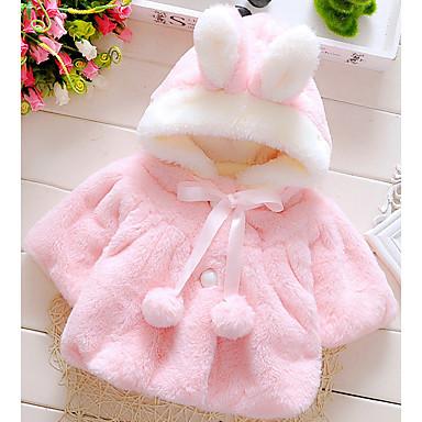 povoljno Majice za bebe-Dijete Djevojčice Osnovni Jednobojni Dugih rukava Rabbit Fur / Pamuk Bluza Obala / Dijete koje je tek prohodalo