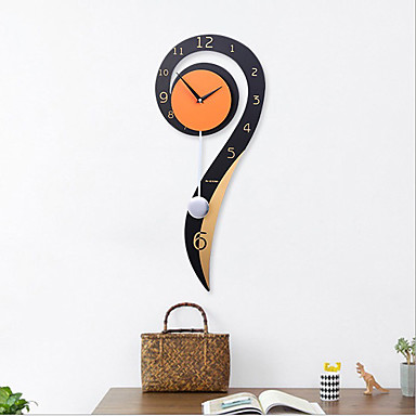 cheap Wall Clocks-Modern Contemporary Wood / Metal Novelty / Houses Indoor AA Decoration Wall Clock Digital Others No