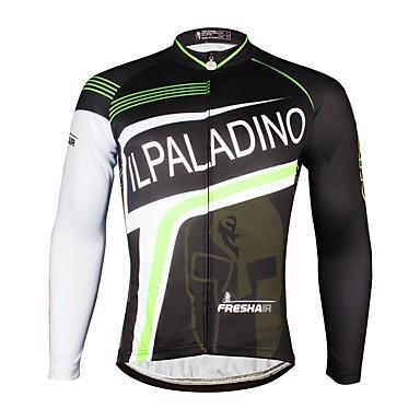 ILPALADINO Men s Long Sleeve Cycling Jersey - Black Bike Jersey Top Thermal    Warm Fleece Lining Ultraviolet Resistant Sports Winter Elastane Mountain  Bike ... 7a77d420e