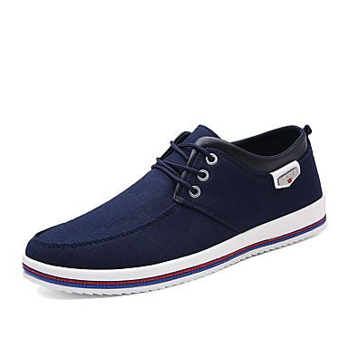 Ανδρικά Παπούτσια άνεσης Πανί Φθινόπωρο / Ανοιξη καλοκαίρι Καθημερινό Αθλητικά Παπούτσια Αναπνέει Μαύρο / Μπλε / Γκρίζο