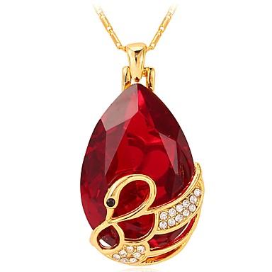 povoljno Modne ogrlice-Žene Ogrlice s privjeskom kameja faceter Labud dame Moda Elegantno Kamen Crvena Plava 55 cm Ogrlice Jewelry 1pc Za Dar Dnevno