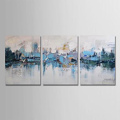 Hang oslikana uljanim bojama Ručno oslikana - Sažetak Moderna Uključi Unutarnji okvir / Tri plohe / Prošireni platno