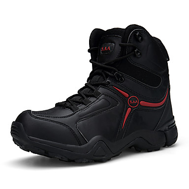 Homens Sapatos Confortáveis Camurça Primavera / Outono & inverno Esportivo / Casual Botas Aventura / Caminhada Não escorregar Botas Curtas / Ankle Preto / Khaki