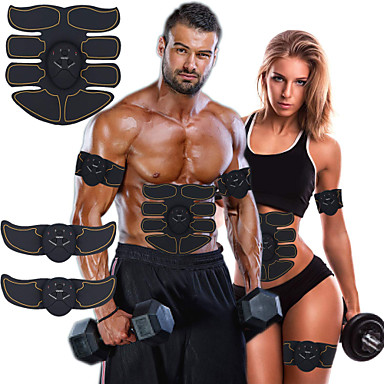 cheap Fitness Gear & Accessories-Abs Stimulator Abdominal Toning Belt EMS Abs Trainer 6 pcs Sports Gym Workout Exercise & Fitness Bodybuilding Smart Electronic Muscle Toner Muscle Toning Tummy Fat Burner Ultimate Training For Leg