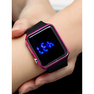 cheap Square & Rectangular Watches-Women's Digital Watch Square Watch Digital Fashion Waterproof Silicone Black Digital - Golden Rose Gold Black / LCD