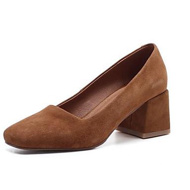3d1d9d8e2d50 Women s Comfort Shoes Suede Spring Heels Chunky Heel Black   Brown 6969263  2019 –  44.99