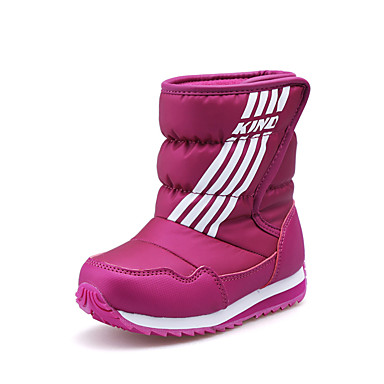 6f0cb12f3cee5 [$34.99] Boys' / Girls' Shoes PU(Polyurethane) Winter / Fall & Winter Snow  Boots Boots Walking Shoes Split Joint for Dark Blue / Purple / Dark Red /  ...