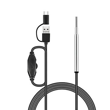 voordelige Microscopen & Endoscopen-3.9 mm drie-in-een mobiele telefoon hd visueel oor pick oor cleaner visuele oor lepel suitbale voor kinderen