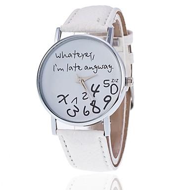 preiswerte Uhren-Damen Uhr Armbanduhr Quartz Leder Gestepptes PU - Kunstleder Schwarz / Weiß / Blau Armbanduhren für den Alltag Analog Modisch Elegant Rosa Hellblau Leicht Grün / Ein Jahr