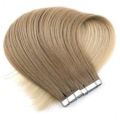 levne Příčesky z pravých vlasů-Neitsi Lepící Rozšíření lidský vlas Volný Přírodní vlasy Příčesky z pravých vlasů 1pack Dámské Jahodový blond